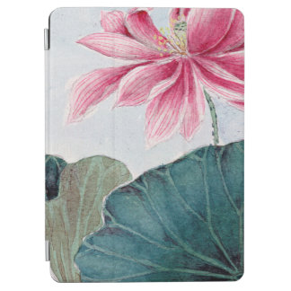 Lotus Flower, Petals, Leaves - Pink Green iPad Air Cover