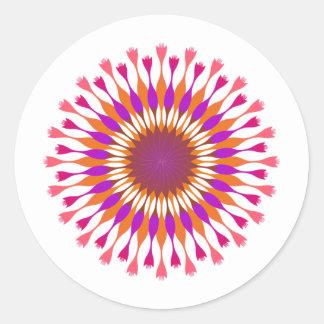 Lotus Flower  Pink Vintage Wedding Birthday Classic Round Sticker