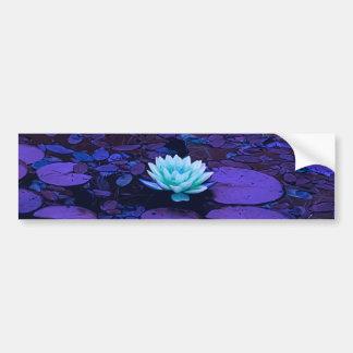 Lotus Flower Purple Blue Turquoise Floral Pond Zen Bumper Sticker