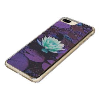 Lotus Flower Purple Blue Turquoise Floral Pond Zen Carved iPhone 8 Plus/7 Plus Case