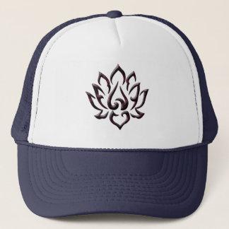 lotus flower purple universe trucker hat