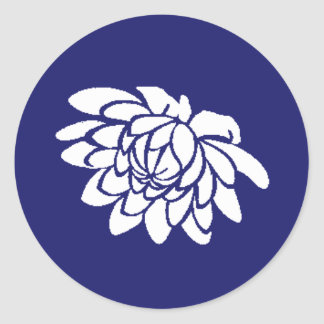 Lotus Flower Sticker (indigo)