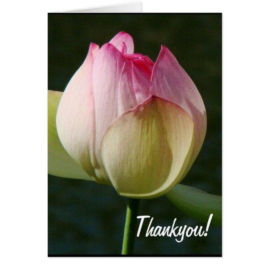 Lotus Flower Thankyou Card