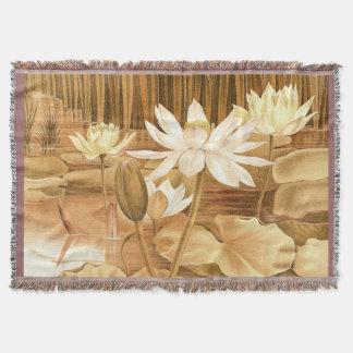 Lotus Flower Throw Blanket