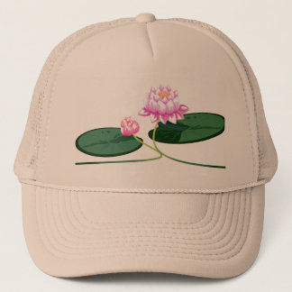 Lotus flower trucker hat