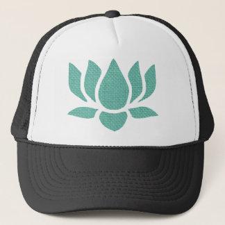 lotus flower trucker hat