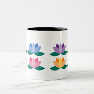 Lotus Flower Two-Tone Coffee Mug