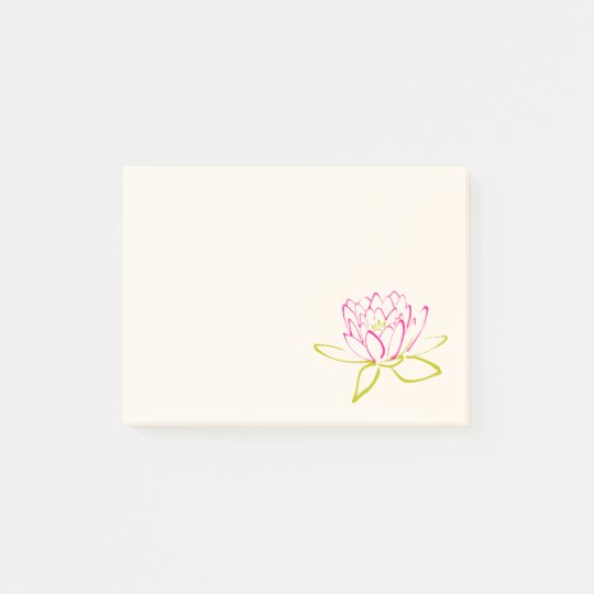 Lotus Flower / Water Lily Illustration Post-it Notes
