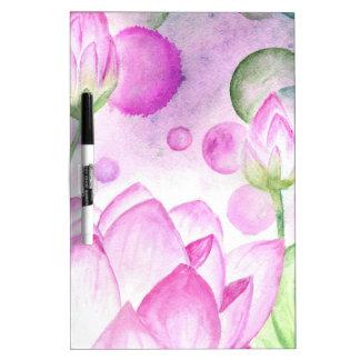 Lotus Flower Watercolor 3 Dry Erase White Board