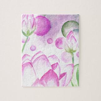 Lotus Flower Watercolor 3 Puzzles