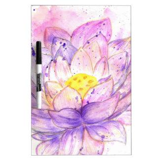 Lotus Flower Watercolor 4 Dry-Erase Board