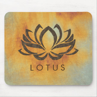 Lotus Flower Watercolor Florral Art Healing  Yoga Mouse Pad