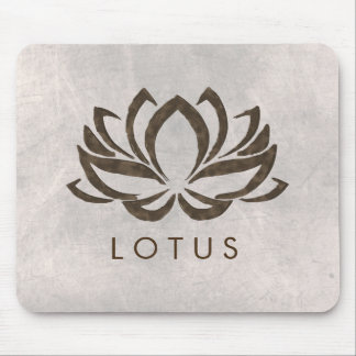 Lotus Flower Watercolor Healing  Yoga Holistic Mouse Pad