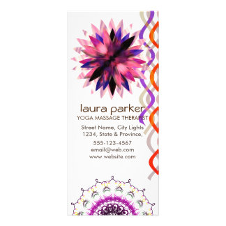 Lotus Flower Watercolor Yoga Healing Holistic Rack Card