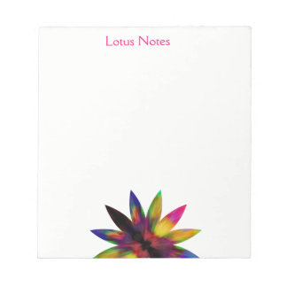 Lotus Flower Watercolor Yoga Instructor Holistic Notepad