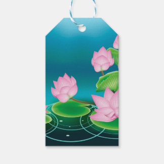 Lotus Flower with Leaves 2 Gift Tags