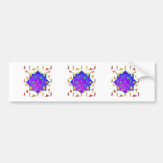 Lotus Flower With Yoga Positions Bumper Sticker