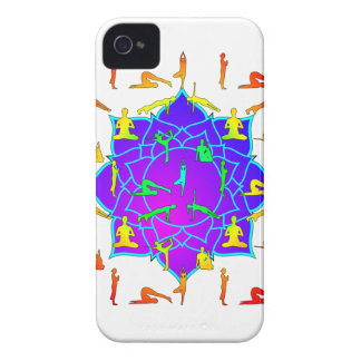 Lotus Flower With Yoga Positions Case-Mate iPhone 4 Case