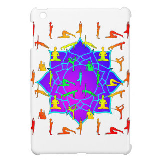 Lotus Flower With Yoga Positions iPad Mini Cases