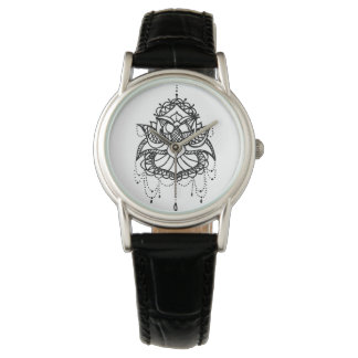 Lotus Flower Wrist Watch