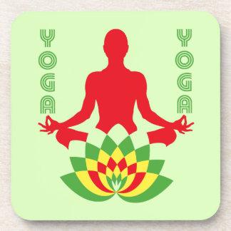 Lotus Flower Yoga Coaster