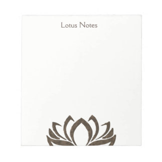 Lotus Flower Yoga Instructor Holistic Classic Notepad