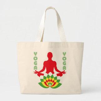 Lotus Flower Yoga Large Tote Bag