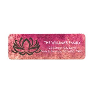 Lotus Flower Yoga Meditation Floral Holistic Return Address Label
