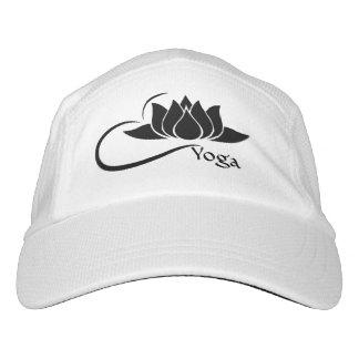 Lotus Flower Yoga Performance Hat Blk/White