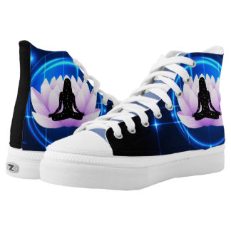 Lotus Flower Yoga Pose High Tops