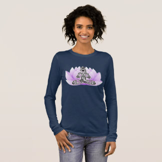 Lotus Flower Yoga Pose Long Sleeve T-Shirt