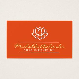 Lotus Flower Yoga Teacher, Life Coach Orange Business Card