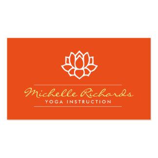 Lotus Flower Yoga Teacher, Life Coach Orange Pack Of Standard Business Cards