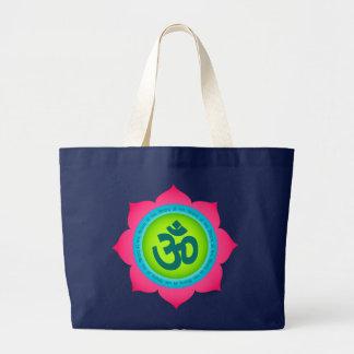 Lotus Flower Yoga Tote Bag Om Buddhist
