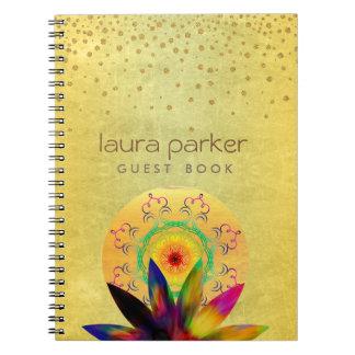 Lotus Flower Yoga Vintage Meditation Holistic Notebook