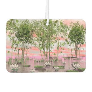 Lotus flowers and bamboos - 3D render Air Freshener