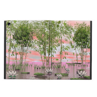 Lotus flowers and bamboos - 3D render iPad Air Case