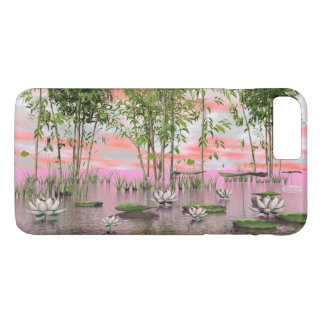 Lotus flowers and bamboos - 3D render iPhone 8 Plus/7 Plus Case