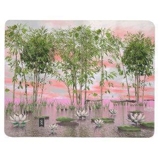Lotus flowers and bamboos - 3D render Journal