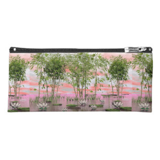 Lotus flowers and bamboos - 3D render Pencil Case