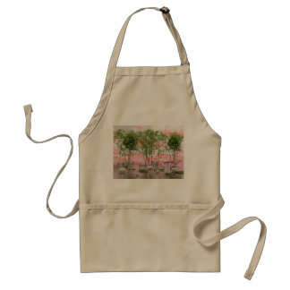 Lotus flowers and bamboos - 3D render Standard Apron