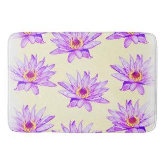 lotus flowers cream inky bath mat