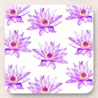 lotus flowers cream inky coaster