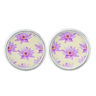 lotus flowers cream inky cuff links