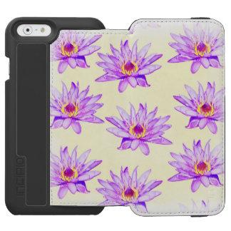 lotus flowers cream inky incipio watson™ iPhone 6 wallet case