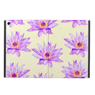 lotus flowers cream inky iPad air case