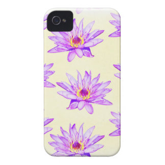 lotus flowers cream inky iPhone 4 case