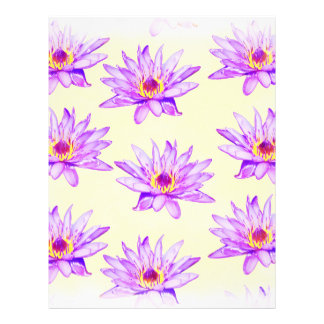 lotus flowers cream inky letterhead