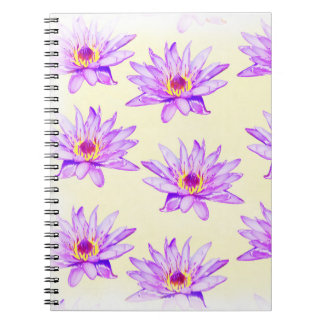 lotus flowers cream inky notebook