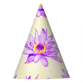 lotus flowers cream inky party hat
